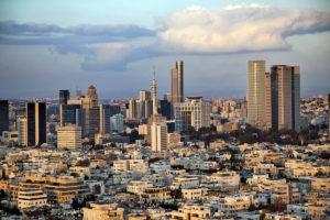 telaviv_israel_wolkenkratzer_downtown_metropole_abenddämmerung_